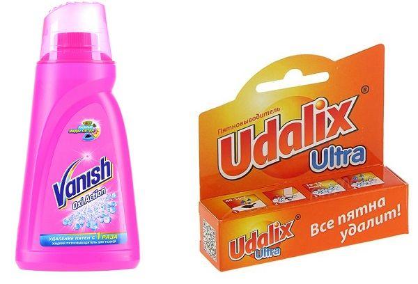 Udalix и Vanish OXI Action.