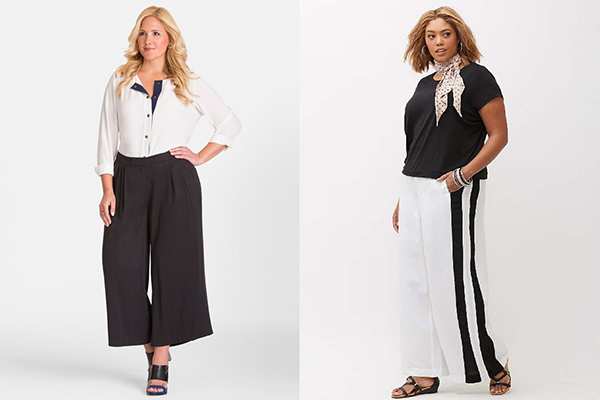 Полные женщины в широких брюках