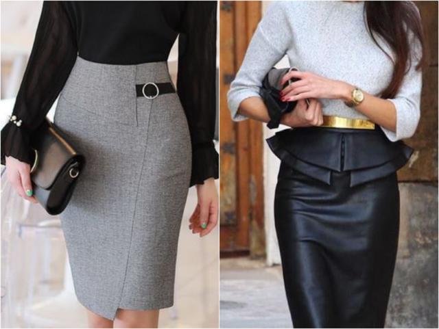 Серая и черна юбка
