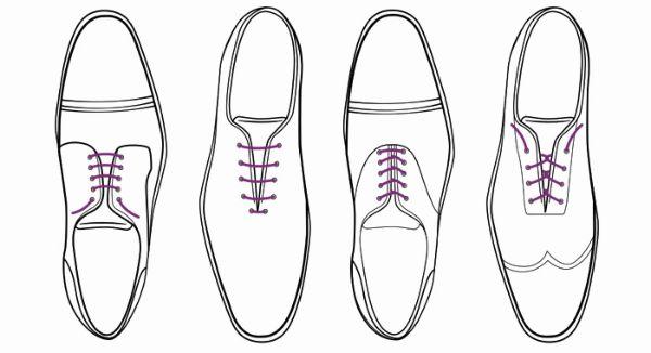 правильная шнуровка туфель