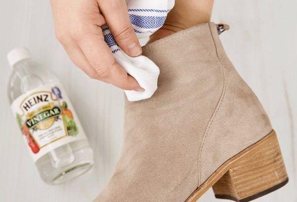 Чистка обуви уксусом