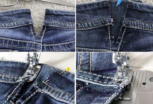 Расширить брюки в поясе