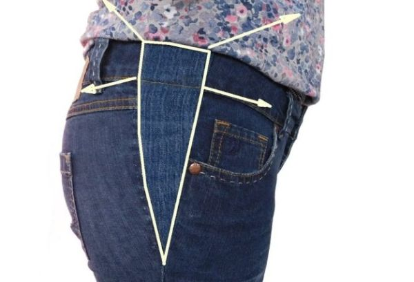 Расширить пояс на джинсах