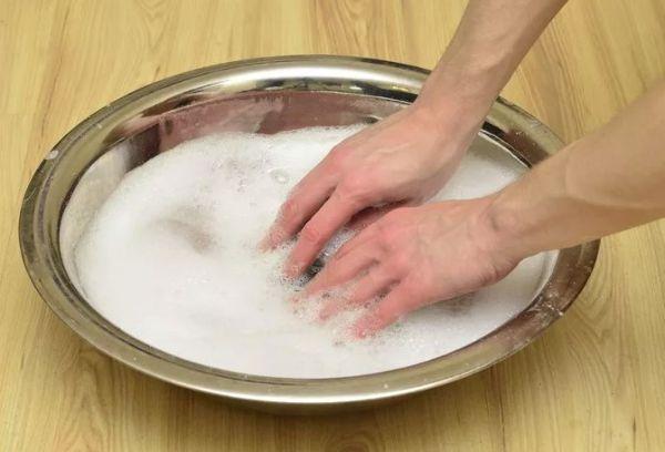 Стельки в мыльном растворе
