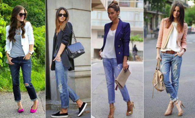 Разная обувь под джинсы