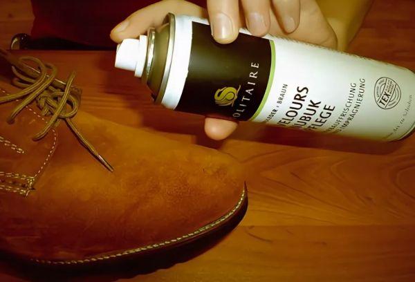 Окрашивание замшевой обуви