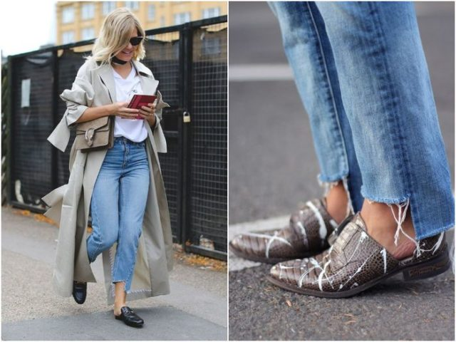 Модные короткие джинсы