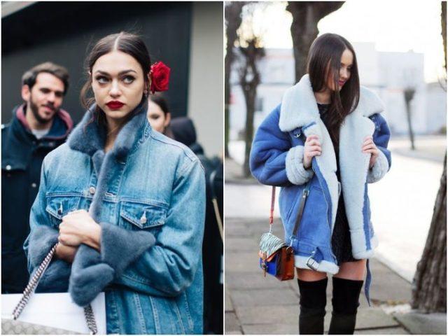 Джинсовые утеплённые куртки