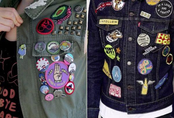 Модные шевроны на куртках