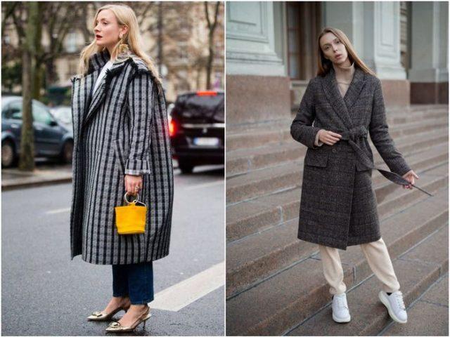 пальто оверсайз и с поясом