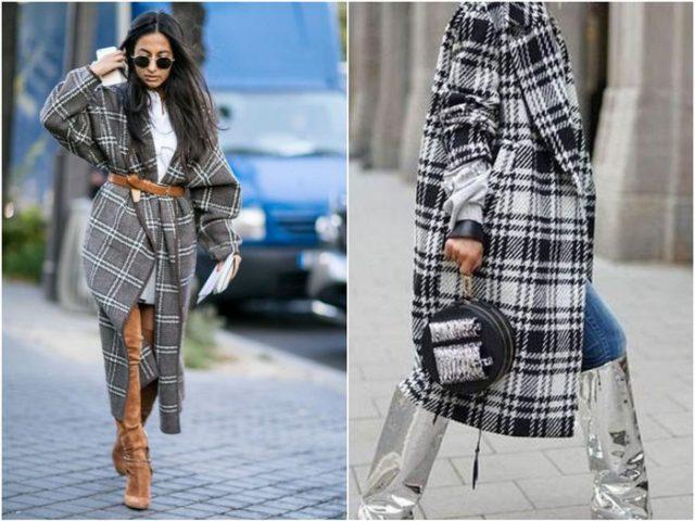 Пальто с геометрическими узорами