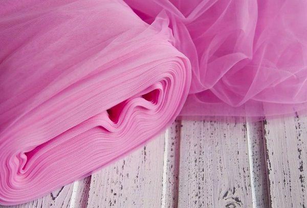 Ткань фатин розовая