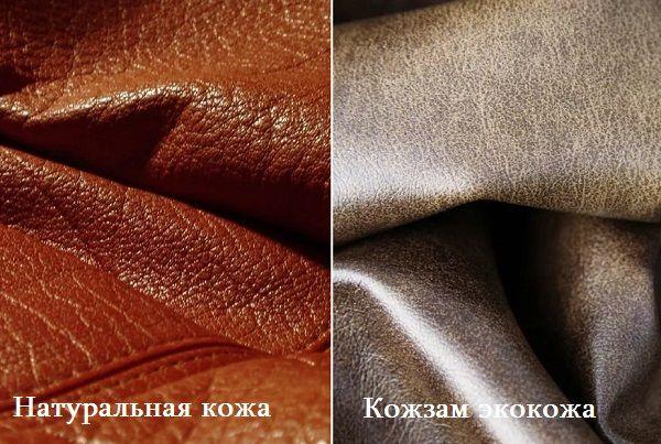 Натуральная кожа и кожзам