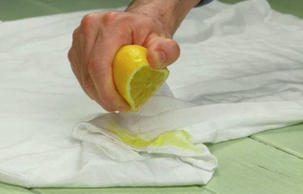 Лимонный сок против пятен