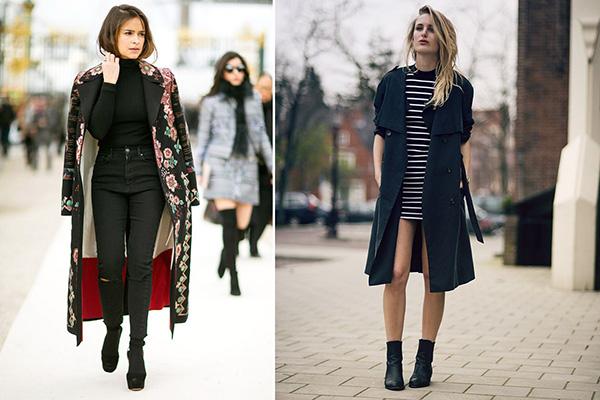 Весенние образы с черным пальто