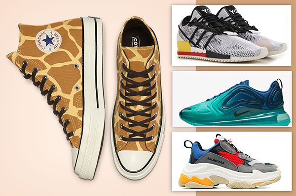 Sneakers and sneakers from the collections of 2020