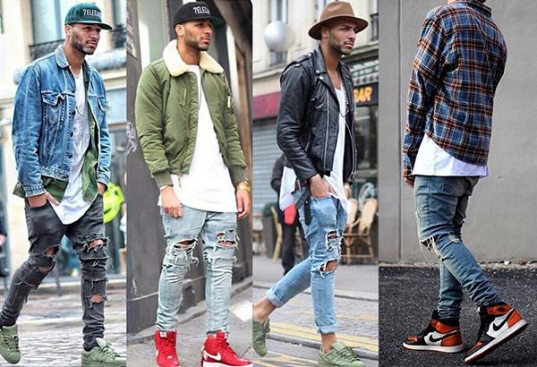 Весенние мужские образы с модными кроссовками