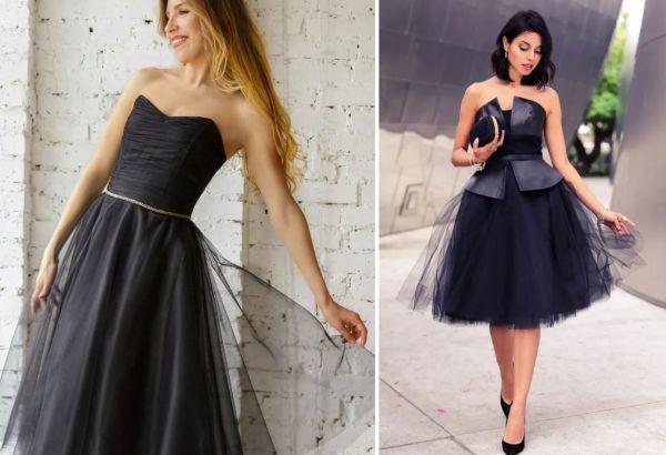 Модели платьев из фатиновой ткани