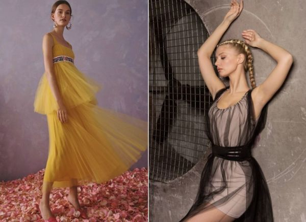 Тренд 2020 года — платье из фатина
