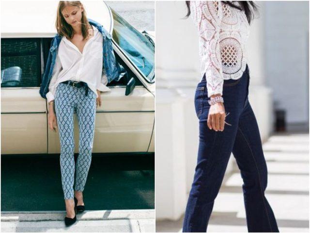 брюки с узорами