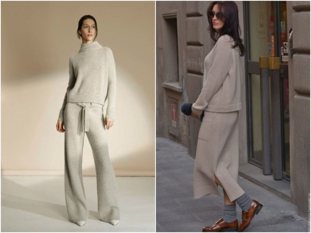 модная вязаная одежда