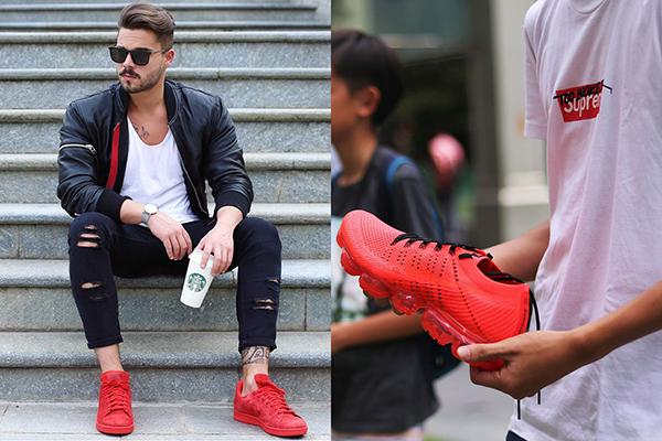 Красные кроссовки для мужчин