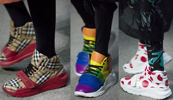 Высокие разноцветные женские кроссовки