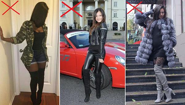 Как не нужно носить ботфорты девушкам