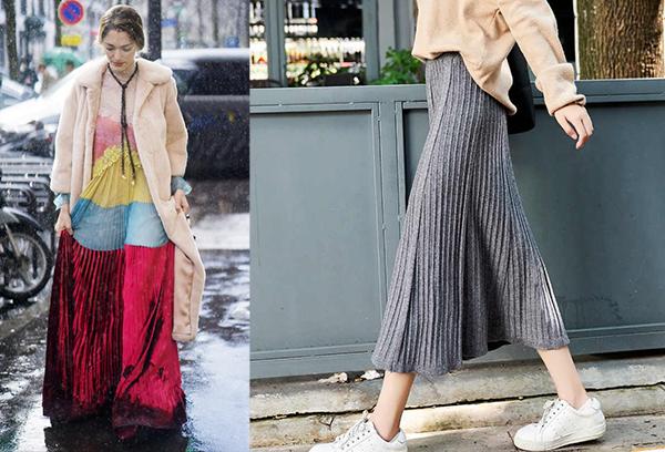 Длинные и легкие юбки зимой