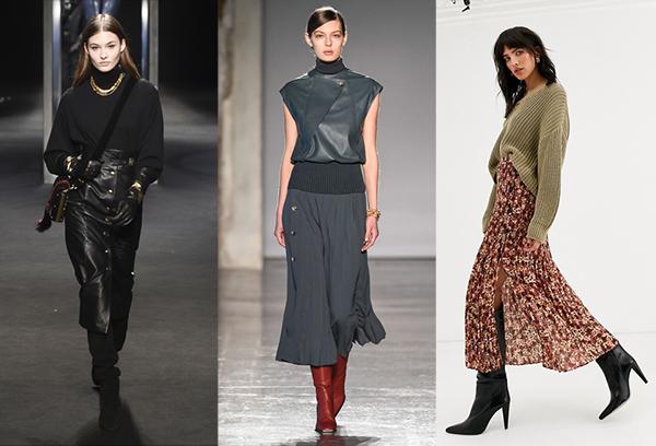 Длинные юбки в холодное время года