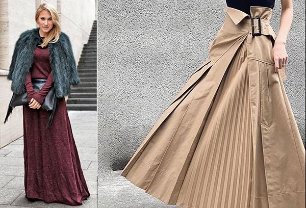 Девушки в длинных юбках