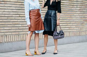 Модные кожаные юбки 2020