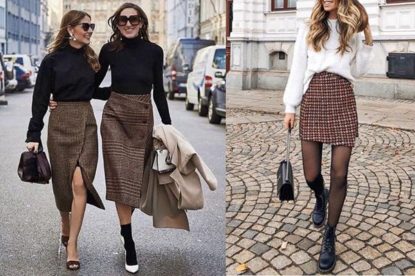 Девушки в твидовых юбках
