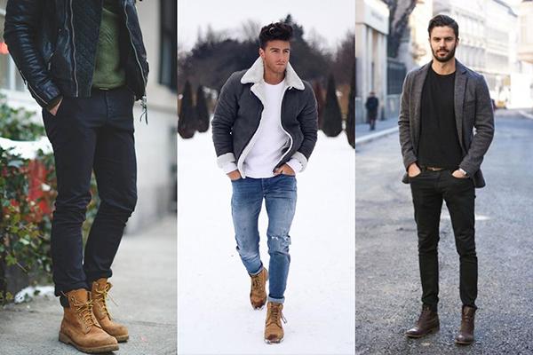 Мужчины в коричневых ботинках