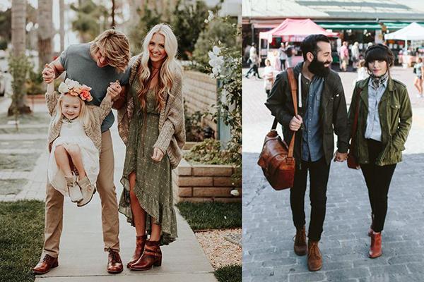Пары в коричневых ботинках