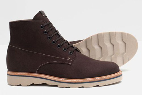 Мужские коричневые ботинки на многослойной подошве