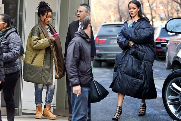 Обувь для образа с длинным женским пуховиком