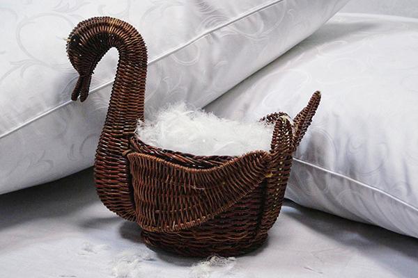 Лебяжий пух для наполнения подушек