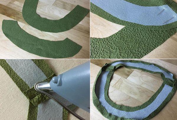 Вырезка ткани для горловины
