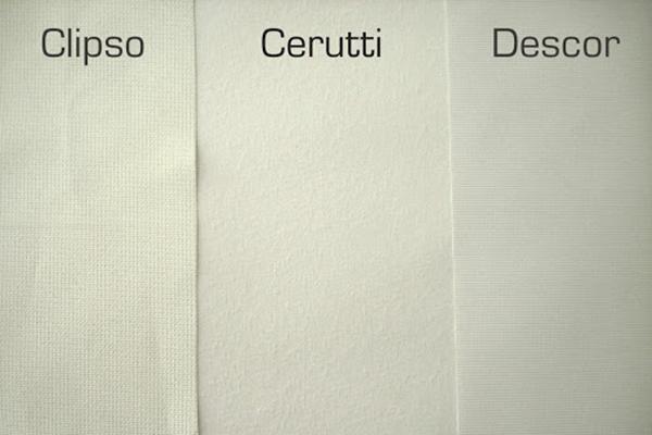 Фактура натяжных потолков трех разных фирм