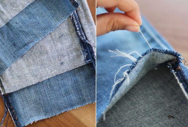 Обрезка джинсовых штанов