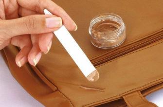Реставрация сумки жидкой кожей