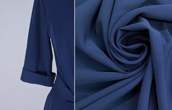 Синяя ткань барби