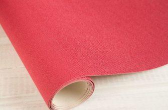 Коленкорный материал красного цвета