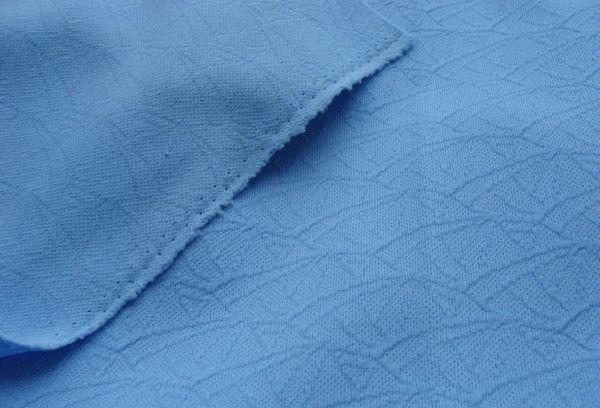 Кримпленовые ткань голубая