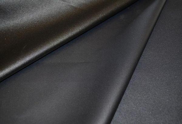 Ткань черная синтетическая