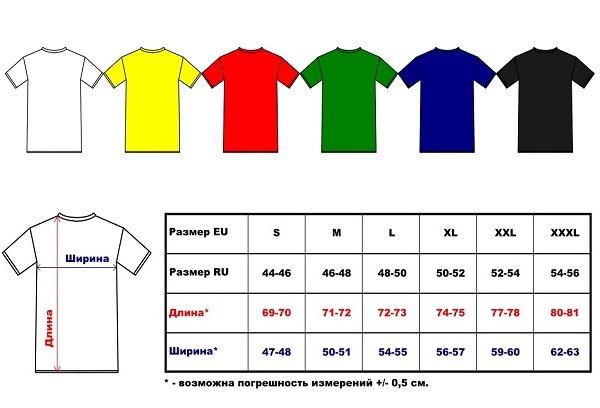 Расход ткани на футболку