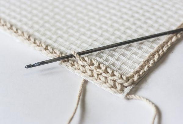 Использование канвы при вязании крючком