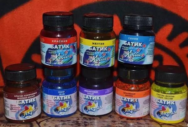 Анилиновые краски для батика