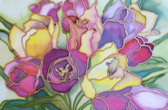 Ручная роспись тканей батик